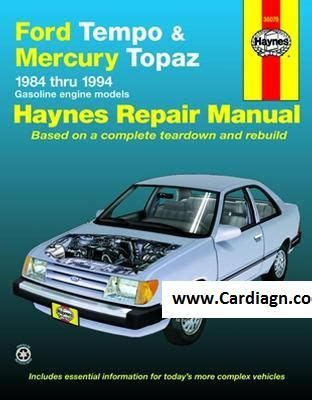 old cars and repair manuals free 1994 mercury cougar lane departure warning ford tempo and mercury topaz haynes repair manual pdf cool things autos ford
