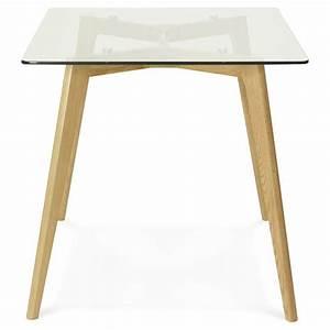 Table A Manger Rectangulaire : table manger style scandinave rectangulaire varin en verre 120cmx80cmx75cm ~ Teatrodelosmanantiales.com Idées de Décoration