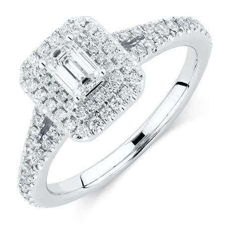 sir michael hill designer grandarpeggio engagement ring with 0 87 carat tw of diamonds in 14kt
