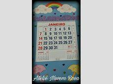 Calendário em eva Chuva de amorbênçãos no Elo7 Ateliê