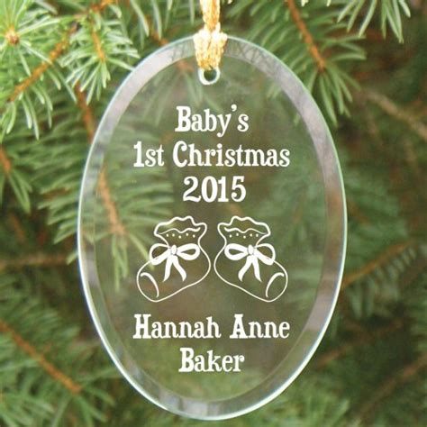 personalized baby s 1st christmas glass christmas ornament