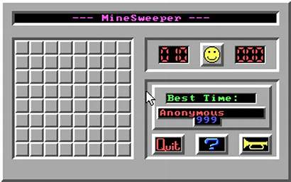 Minesweeper Qbasic Dos Basic Archive Programs Screenshot