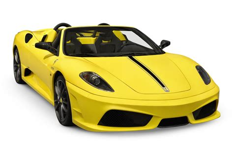 Amazing Yellow Ferrari Sport Cars Cabriolet Front Right