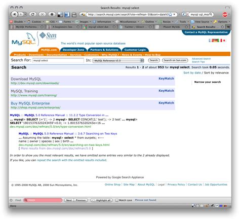 Apache/2.0.58 (unix) Server