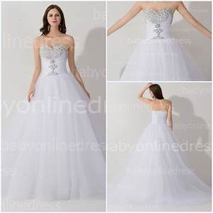 Aliexpress.com : Buy Real White Lace Up Back Ball Gown ...