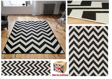 Black And White Chevron Runner Rug by All Sizes Chevron Malmo Utility Rugs Runners Zig Zag
