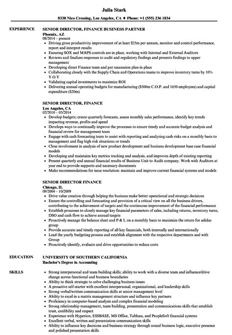 Finance Resume by Director Of Finance Resume Sles Bijeefopijburg Nl