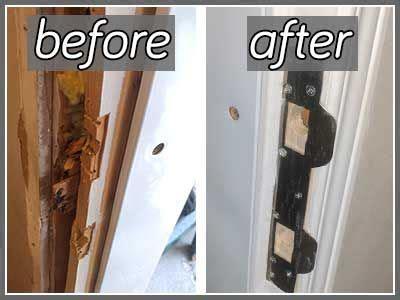 Door Jamb Repair by Door Frame Repair Photo Check Out The New Wood And Metal