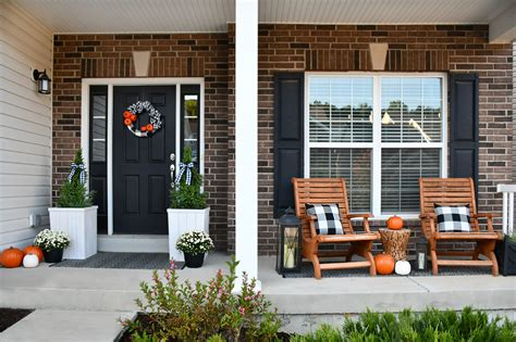 front entrance rugs fall front porch makeover with buffalo check and pumpkins