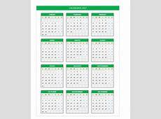 Calendario 2017 5 2019 2018 Calendar Printable with