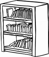 Bookshelf Bookcase Coloring Shelf Drawing Clipart Pages Shelves Draw Library Sketch Drawer Drawings Sheet Drawn Template Easy Shelving Getdrawings Tocolor sketch template