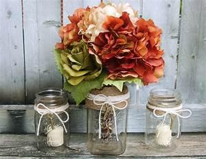 Creative and Stunning Mason Jar Fall Wedding Centerpieces ...