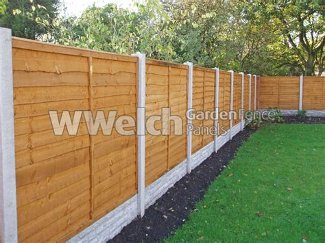 horizontal wood fences welch fencing garden fence panels concrete