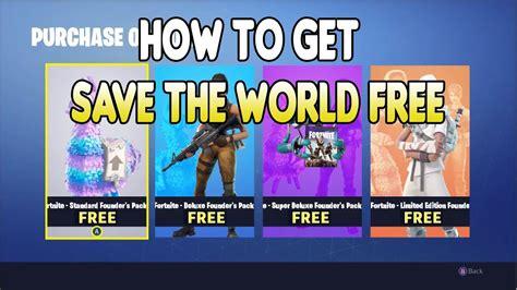 save  world   fortnite updated