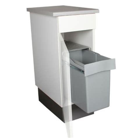 bac poubelle cuisine poubelle de cuisine coulissante 1 bac 30 litres