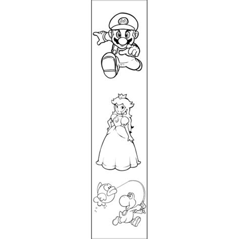 segnalibri per bambini da colorare e stare disegno di segnalibro mario bros da colorare per bambini