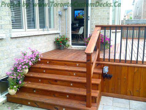 cedar patio decks and landscaping design toronto custom