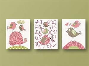 Baby girl room decor nursery wall art print kids