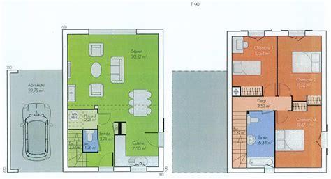 plan maison a etage 3 chambres plan maison 6 chambres descriptif plan rdc maison maison