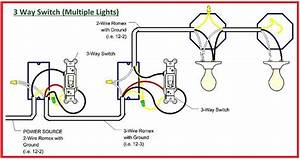 Diagram For Three Way Switch With Multiple Lights