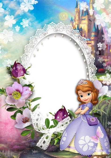children photoshop frame png psd template princesses