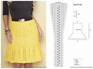 Yellow Crochet Skirt With Diagram Pattern