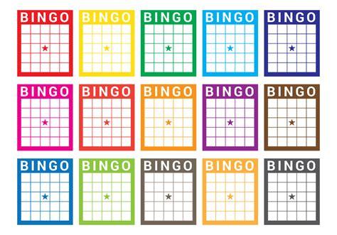 bingo card vector   vector art stock