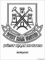 Ham West Pages United Coloring Coloringpagesonly sketch template