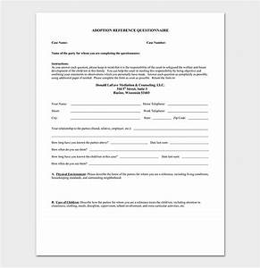 Adoption Reference Letter  Format  U0026 Sample Letters  Word  Pdf