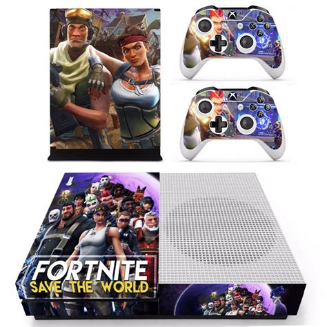 fortnite theme skin sticker decal  xbox  slim