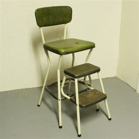 Cosco Step Stool Chair by Vintage Cosco Stool Step Stool Kitchen Stool Chair