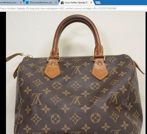 louis vuitton speedy  bag lock key monogram vgc satchel canvas vintage usa thecurrentfashioncom