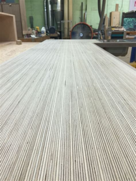 baltic birch plywood kitchen counter   walnut trim
