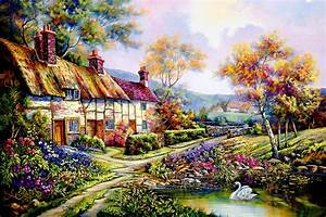 Acrylic Paint By Numbers Kit Canvas 50*40cm 8190 Swan ...