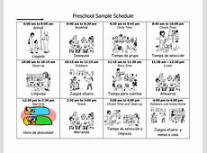 4 Best Images of Printable Preschool Daily Schedule