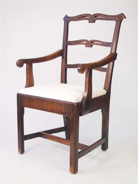 Ladder Back Arm Chairs With Seats by Antique Georgian Oak Ladder Back Chair For Sale