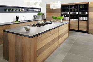 Stoere Houten Keuken Met Betonnen Aanrecht Tinello