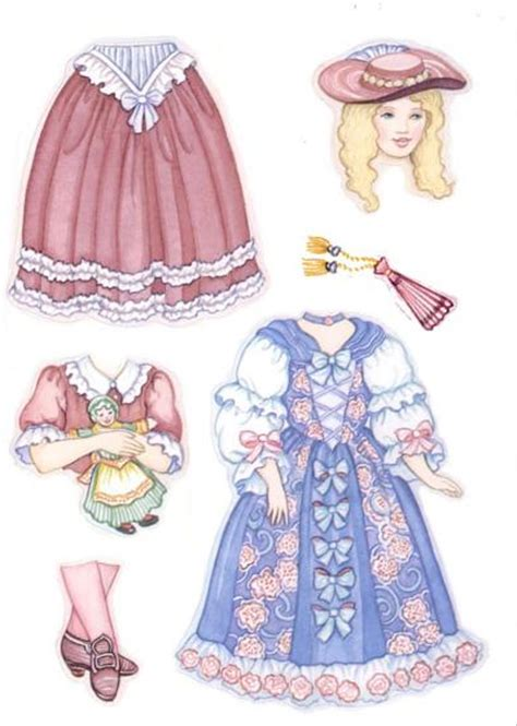 betsy  colonial girl sticker paper doll