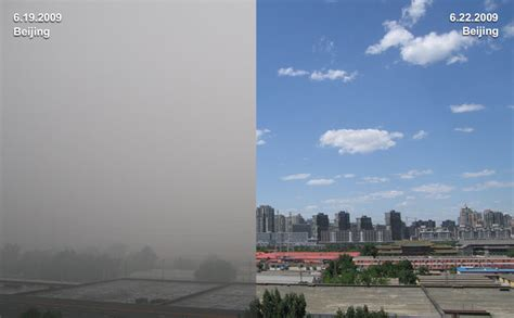photographs  beijing   smoggy day june