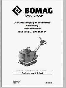 Bomag Bpr 50 55d  U0026 60-65d Maintenance Manual