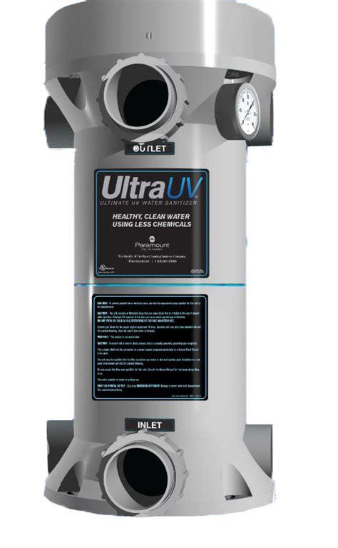 paramount ultraviolet water sanitizer system 1 l 120v