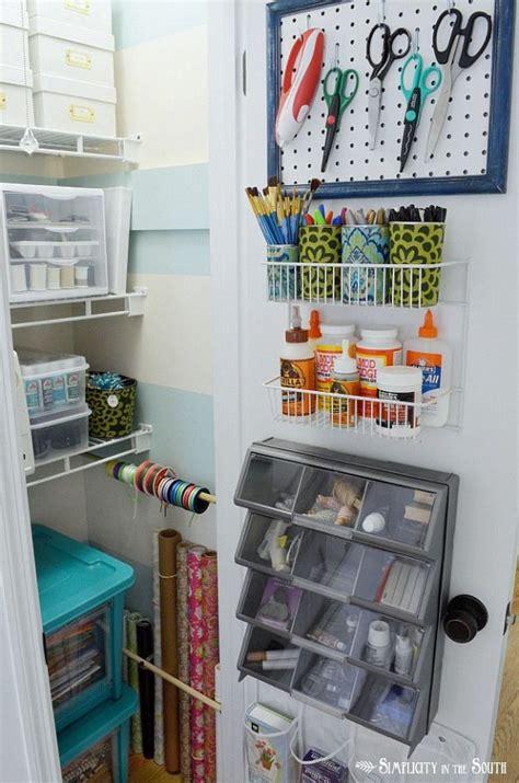 craft closet organization ideas crafting