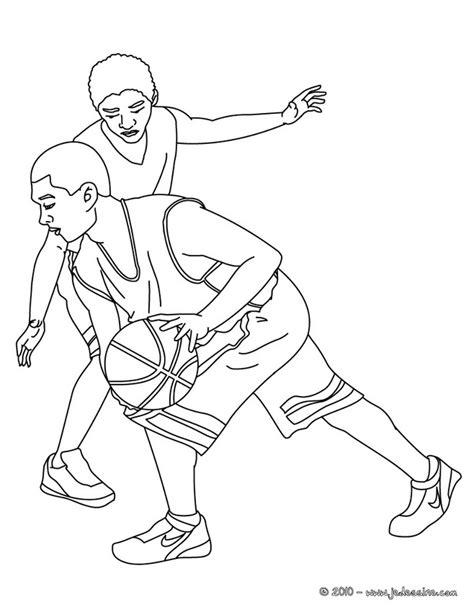 dessins de coloriage sport basket  imprimer
