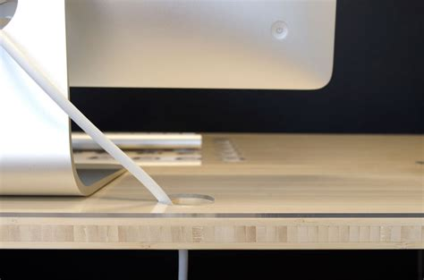 bureau pour imac kickstarter un bureau conçu pour le mac avec un dock