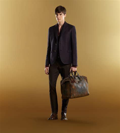 gucci goldmark grainy leather duffle bag  brown  men lyst
