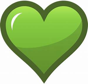 Green clipart love heart