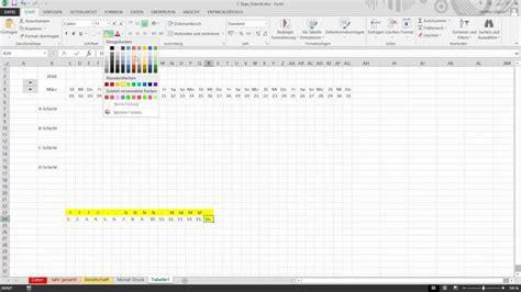 schichtplan mit excel erstellen allgemeine berechnung
