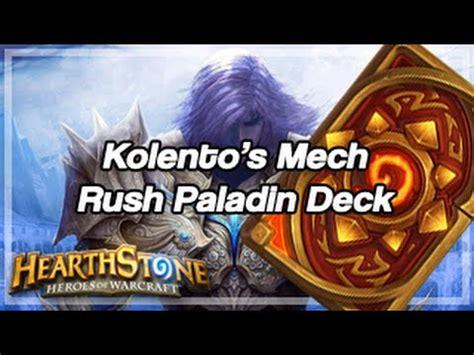 Hearthstone Decks Paladin Mech by Hearthstone Kolento S Mech Paladin Deck