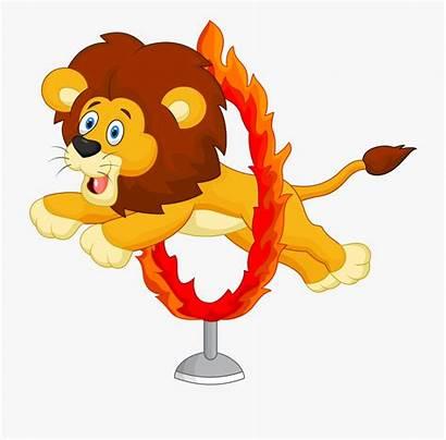 Lion Circus Clipart Cartoon Tamer Transparent Lions
