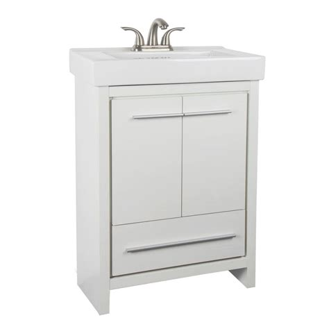 24 inch vanity with sink glacier bay romali 24 inch w vanity in white finish with